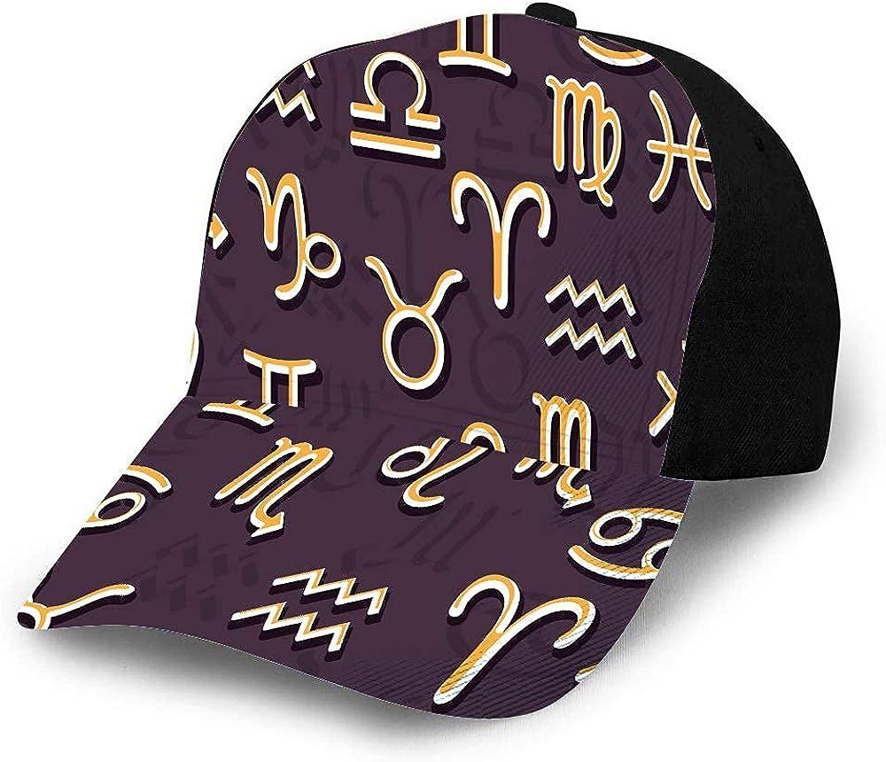 MayBlosom Sternzeichen-Hut, Baseballkappe für Männer und