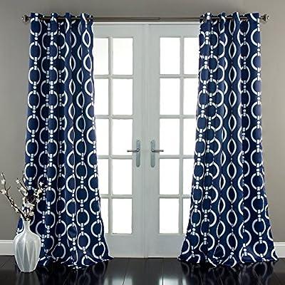 Lush Decor Chainlink Window Curtains Set