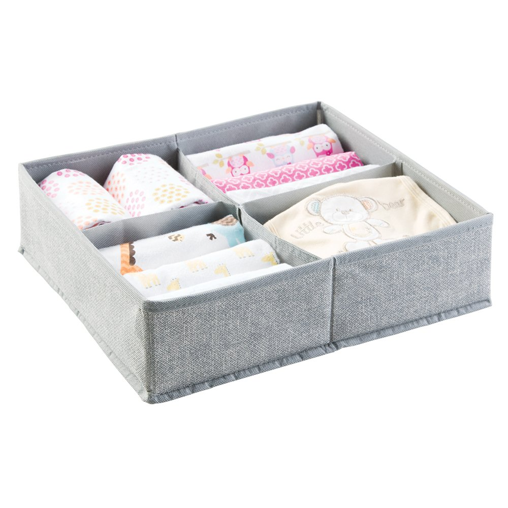 beanbone mDesign Set of 2 Baby Room Organizers - Large ...