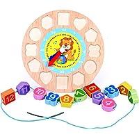 Jack Royal Wooden Digital Clock Bead Toy (Lion)
