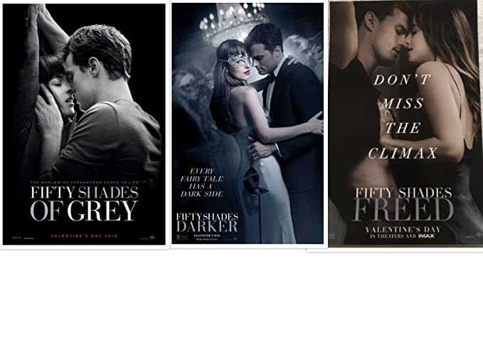 Set Of 3 Fifty Shades Of Grey Darker Freed 11 X17 Original Promo Movie Posters