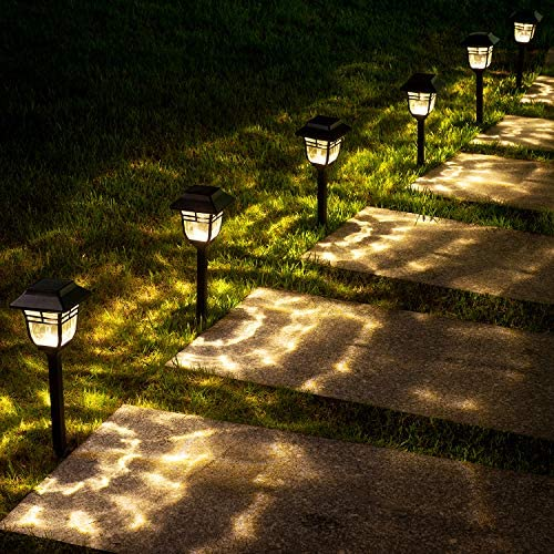 Waterproof LED Path Light for Pathway Patio Lawn Yard 6 Pack Solar Lights Outdoor,Solar Powered Garden Lights