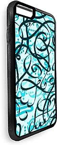 ايفون 6 بلس بتصميم رسوم زخرفية - تركوازي
