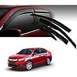 Carazy Car Rain Wind Door Visor Side Window Deflector for- Honda Amaze 2019 -Set of 4 Pcs