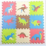Toy 9PCs Kids Puzzle Play Mat with Farm Animals, Safari Animals, Sea Life, Dinosaur Patterns