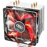 DEEPCOOL GAMMAXX 400R CPU Cooler with Red LED for INTEL 2011, 1366, 1156, 1155, 1150, 1151, 775, AMD AM4, FM2+, FM2, FM1, AM3+, AM3, AM2+, AM2