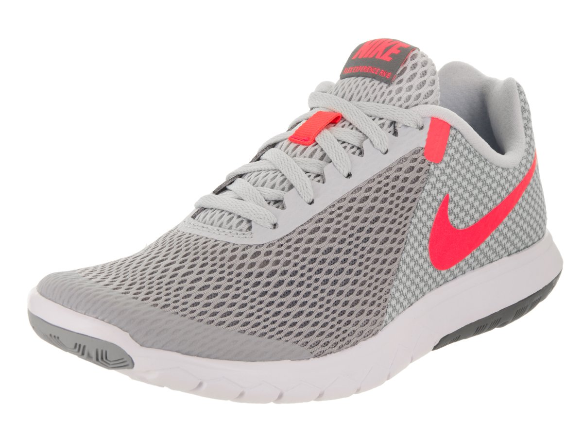 Nike Flex Experience RN 6 Wolf Grey/Hot Punch/Pure Platinum Women's Running Shoes (6.5)