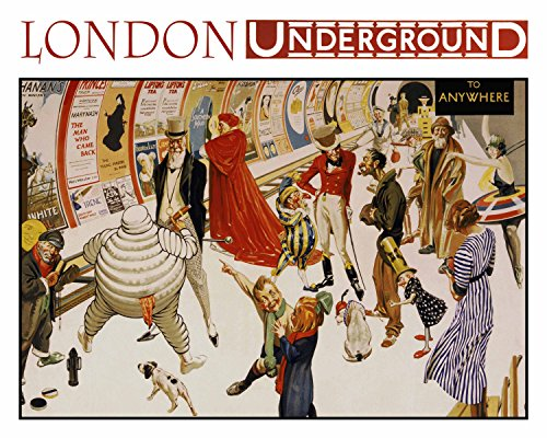 Decorative Art Print: Vintage Advertisement Poster ~ The LONDON UNDERGROUND (8