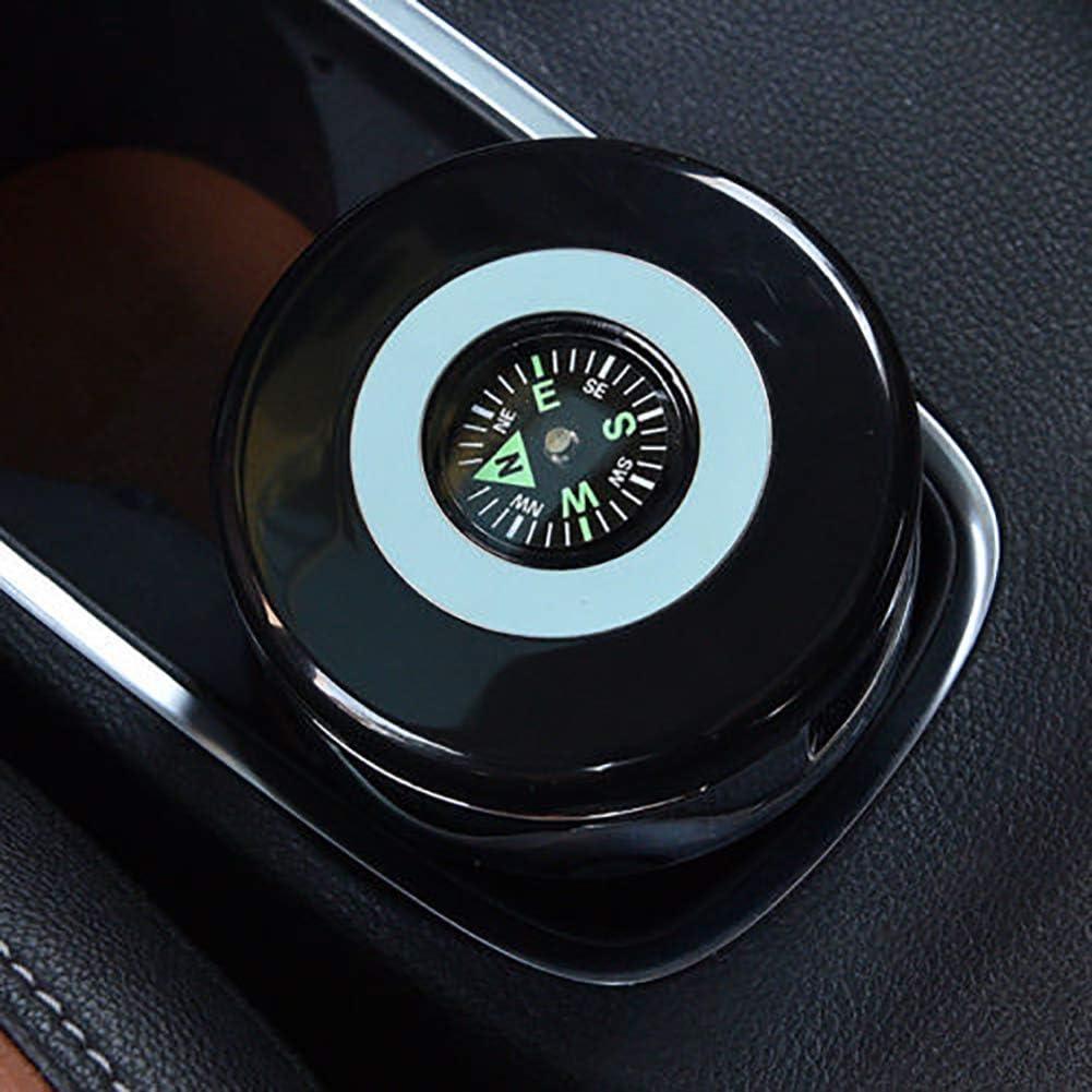 Organizador de asiento trasero para coche, universal, elegante, retardante de llama, cenicero de coche con brújula de luz LED negro: Amazon.es: Hogar
