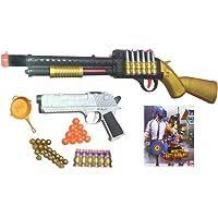 HALO NATION PUBG S1897 Shotgun Toy with 4 in 1 Bullet (56 cm)