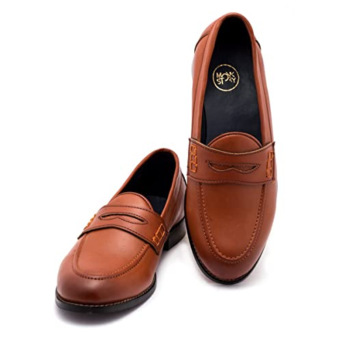 902f0e3e63299b Monkstory Men Boise Penny Tan Loafers: Buy Online at Low Prices in India -  Amazon.in