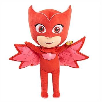 Dickie-Spielzeug PJ Masks - Functional Plush Figura Felpa Eulette con Luz y Sonido