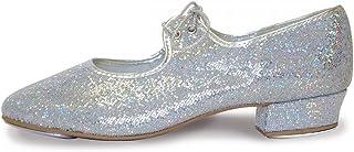 Roch Valley Chaussures à Talon Bas Effet Hologramme pour Femme Argenté Taille L