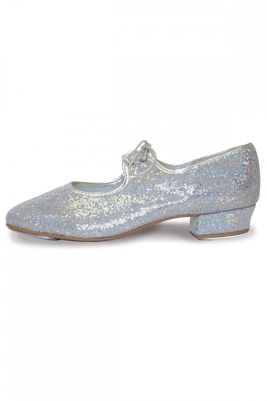 Roch Valley LHPH - Zapatos de claqué (efecto holograma) Silver Hologram Talla:2 UK / 34 EU B9gDTH