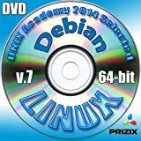 Debian 7 Linux DVD 64-bit Full Installation Includes Complimentary UNIX Academy Evaluation Exam