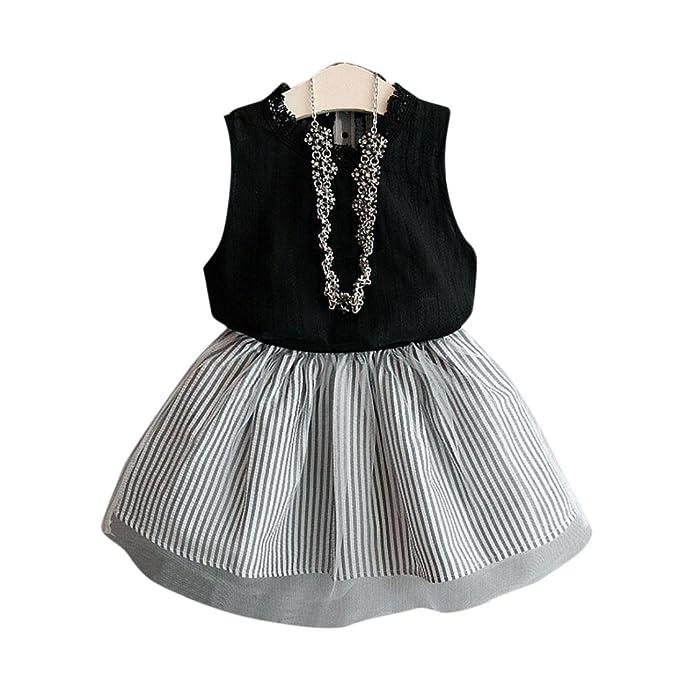 Amazon.com: Vicbovo Little Girl Verano Ropa de camisa sin ...