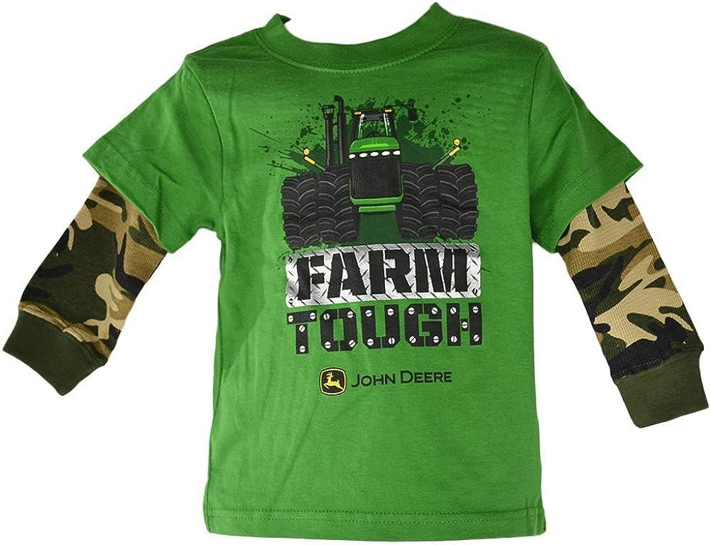 John Deere infantil/Todder granja rígida térmico manga verde hangdown camiseta Verde verde: Amazon.es: Ropa y accesorios