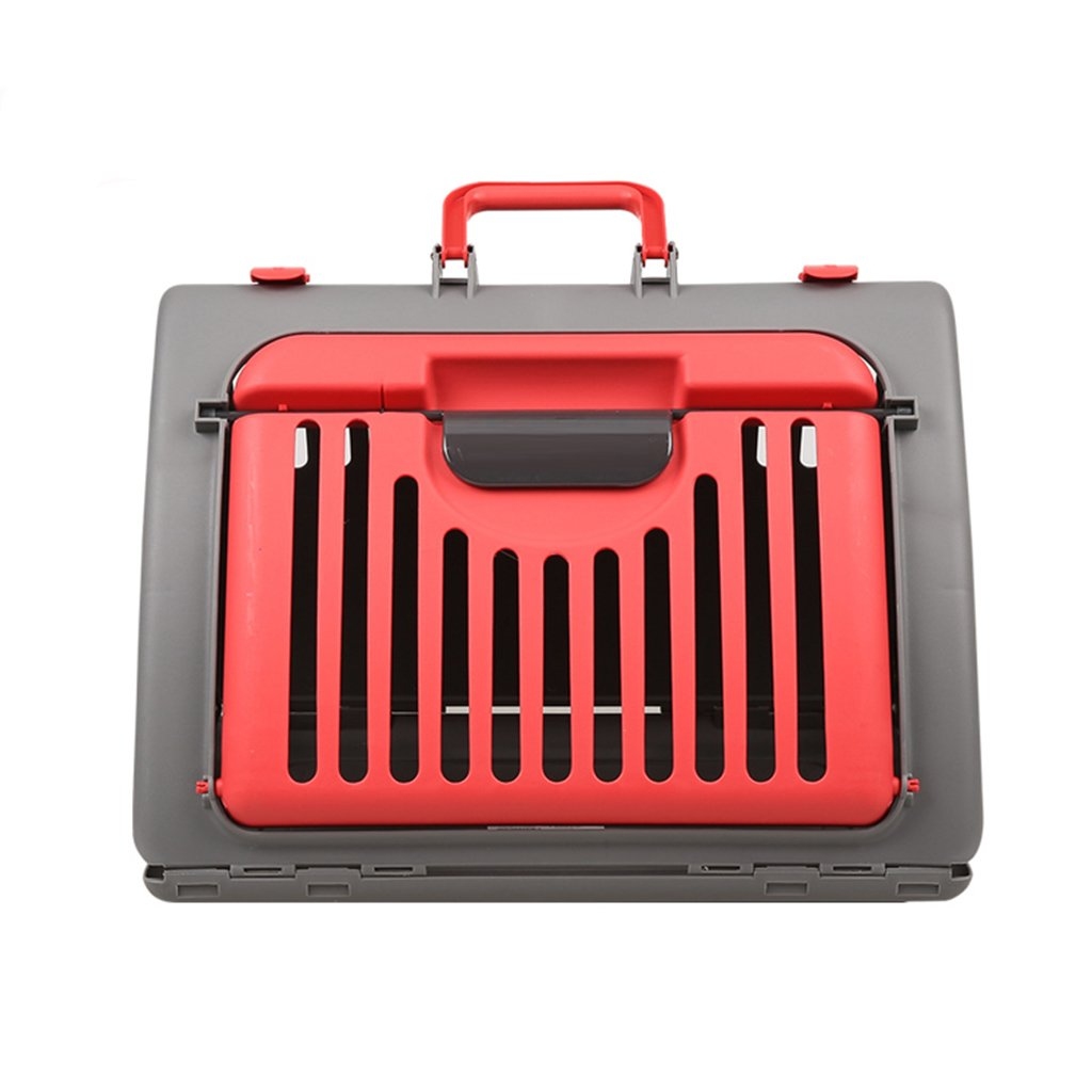 Red BTPDIAN carrying case Cat cage Cat basket Outgoing package Take-out bag Puppy pet box (color   Red)