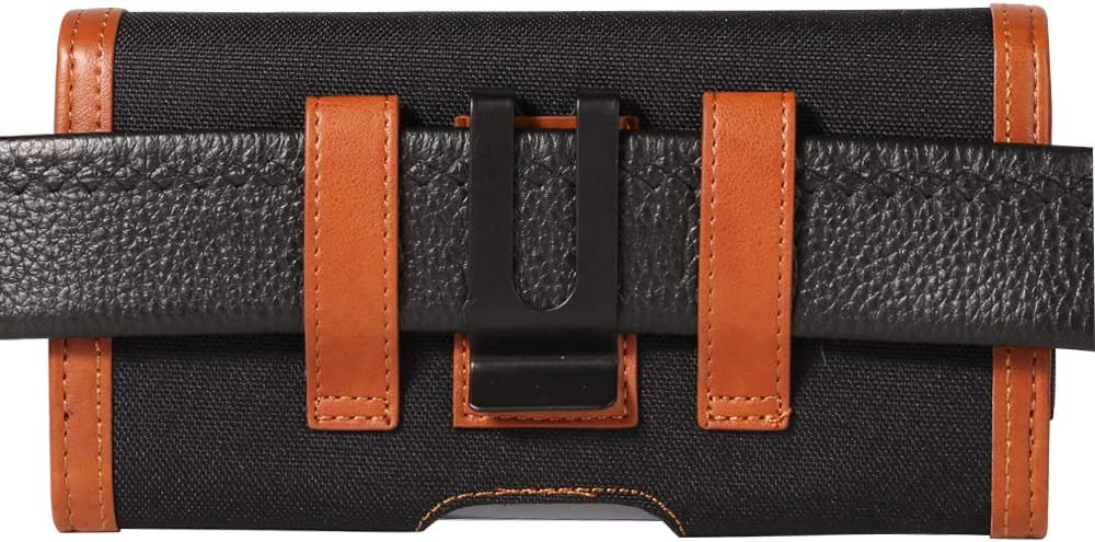Horizontal Belt Clip Holster Case w//Card Slots Compatible for Huawei Mate 30 Pro G8s ThinQ//Motorola Moto G8 Plus//One Vision//Sony Xperia 10 Black P30 Pro//LG Stylo 5 BlackBerry KEY2