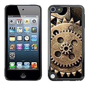 Paccase / SLIM PC / Aliminium Casa Carcasa Funda Case Cover para - Cog Wheel Rustic Vintage Old Retro - Apple iPod Touch 5