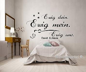 WANDTATTOO Schlafzimmer Spruch mit zwei Namen ++ Ewig dein,ewig mein,ewig  uns++ van Beethoven
