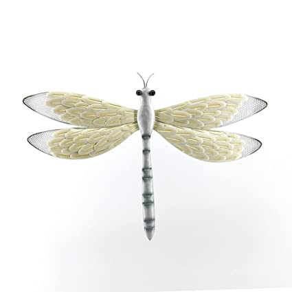 Comfy Hour 16u0026quot; Height Brown Silvery Metal Art Dragonfly Wall Décor