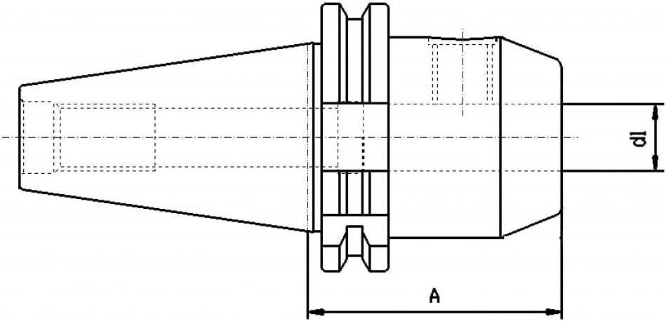 L/änge: 100 mm DIN 69871 Weldon 6 mm CNC QUALIT/ÄT Werkzeugaufnahme SK40