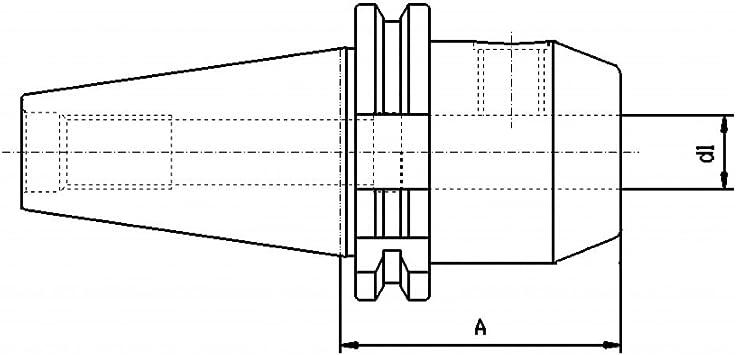 DIN 69871 CNC QUALIT/ÄT Werkzeugaufnahme SK40 L/änge: 100 mm Weldon 10 mm
