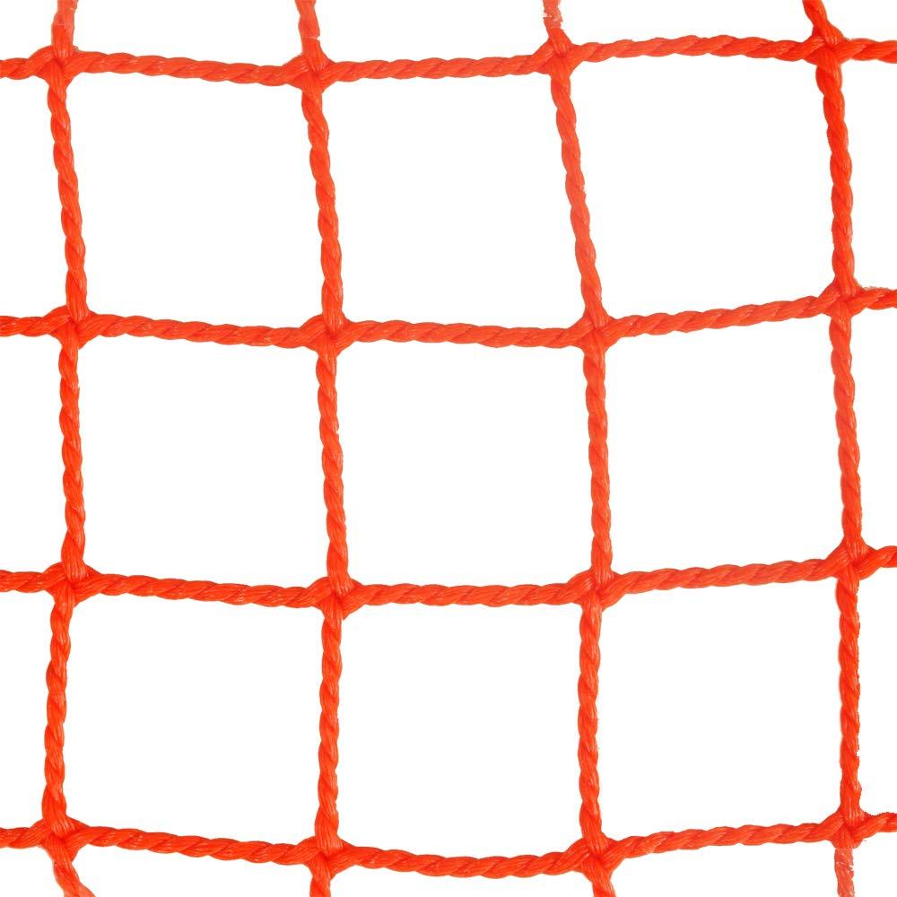 ネット 網 NET15 ■オレンジ ▼幅450cm ▽丈150cm JQ 防球ネット 防鳥ネット 防犯用ネット 階段ネット 落下防止ネット 安全ネット ゴルフネット B07GV8R7K5 ▼幅450cm|▽丈150cm ▽丈150cm ▼幅450cm
