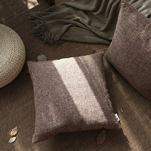 Kevin Textile Decorative Linen Pillow Cover Square Euro Thro