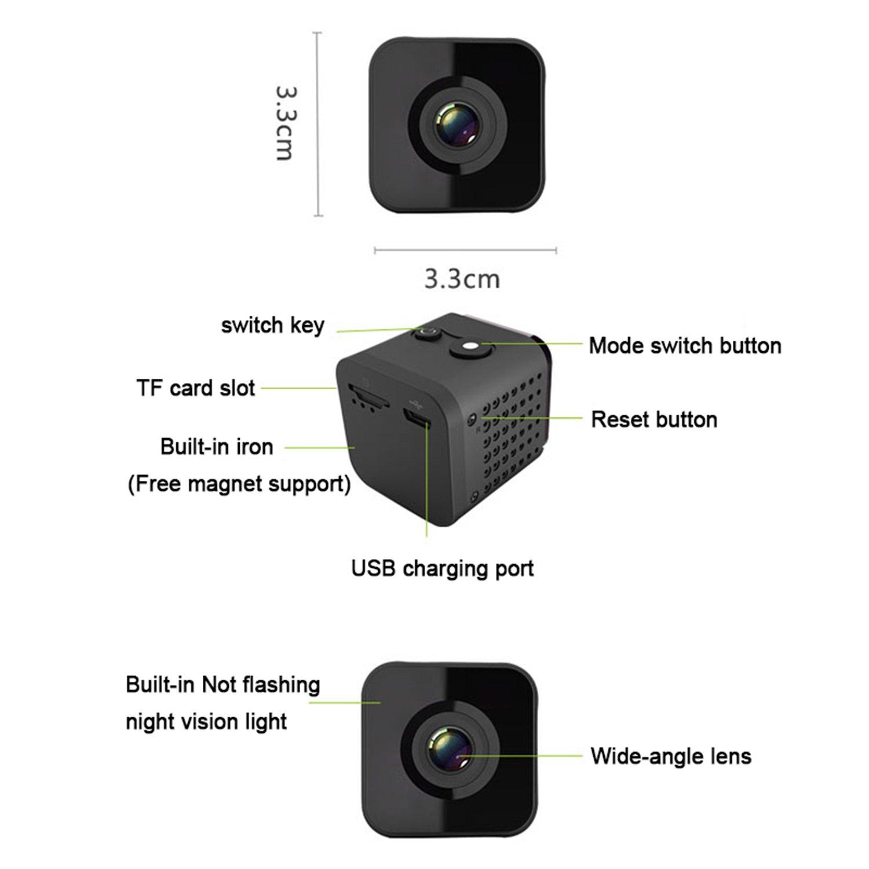 Kabellos Haussicherheit Kamera Nachtsicht Arbeit Mit Alexa Echo TF-Steckplatz