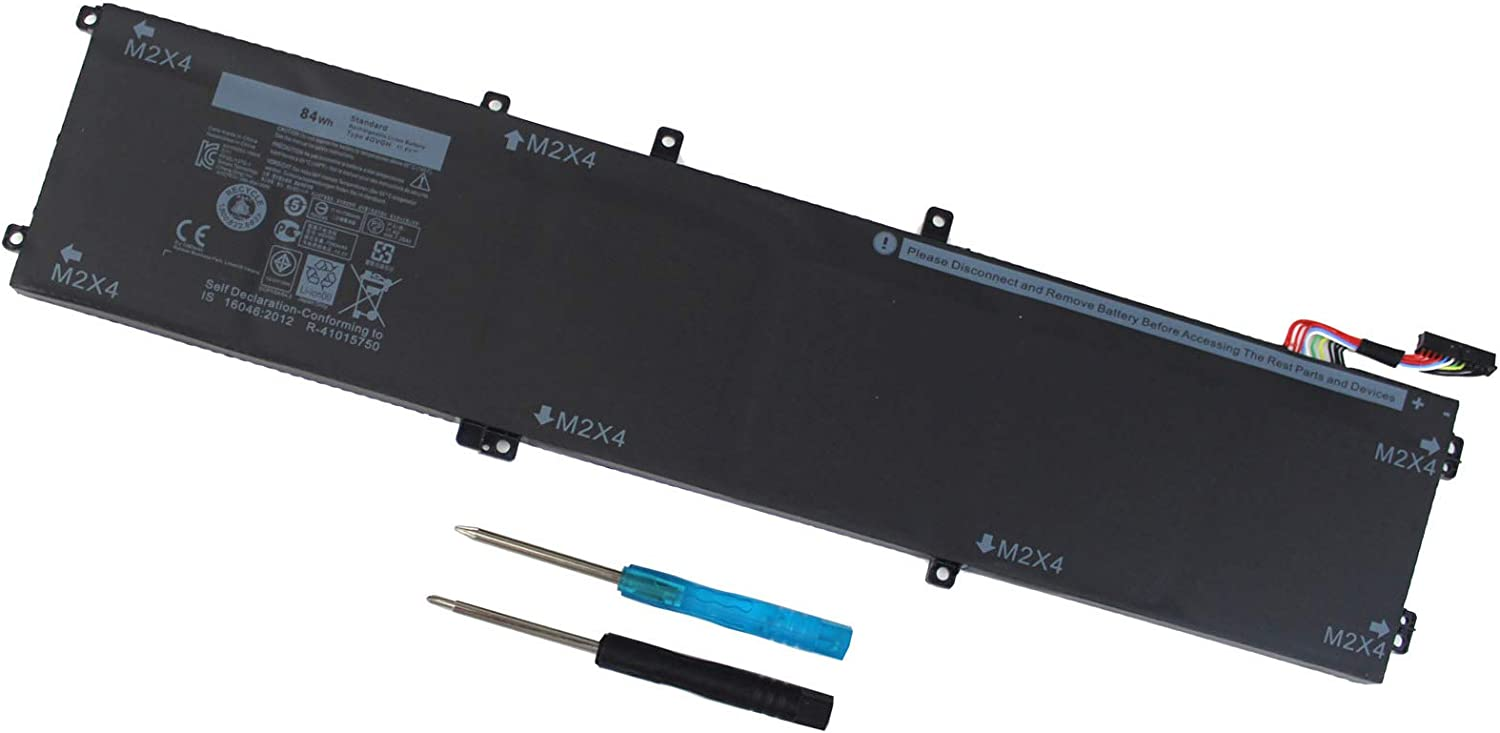 4GVGH Laptop Battery for Dell XPS 15 9550 Precision 5510 1P6KD 01P6KD T453X 0T453X P56F P56F001 062MJV 451-BBUX 84WH 11.4V