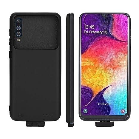Forhouse Funda Batería para Samsung Galaxy A50, 7000mAh Carcasa Cargador de Batería Externa Recargable Portátil Carga Caso de Prueba de Choque para ...