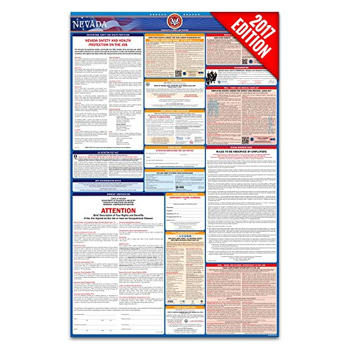 2017 Nevada Labor Law Poster – State & Federal Compliant – Laminated