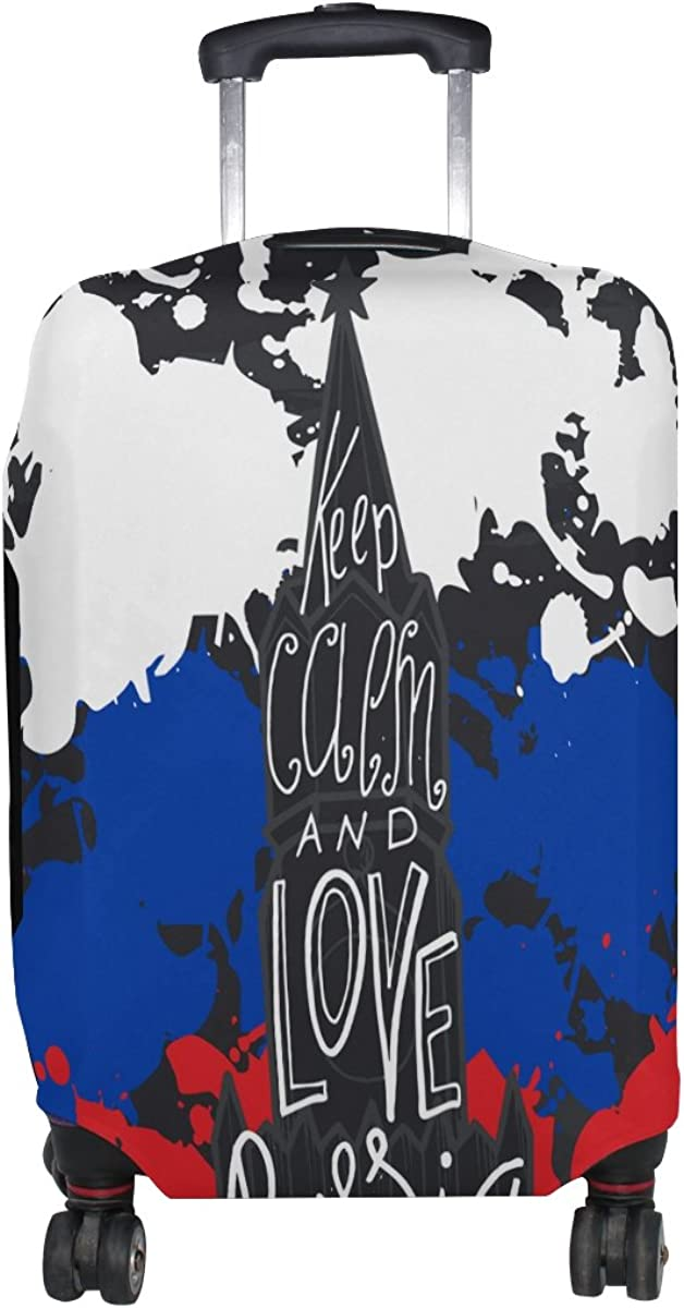 GIOVANIOR Russia Graphic Luggage Cover Suitcase Protector Carry On Covers