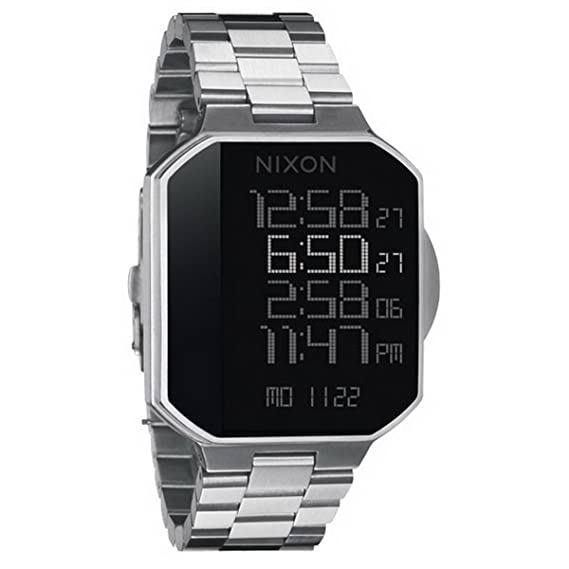 Nixon A323000-00 - Reloj digital de cuarzo para hombre con correa de acero inoxidable, color plateado: Amazon.es: Relojes
