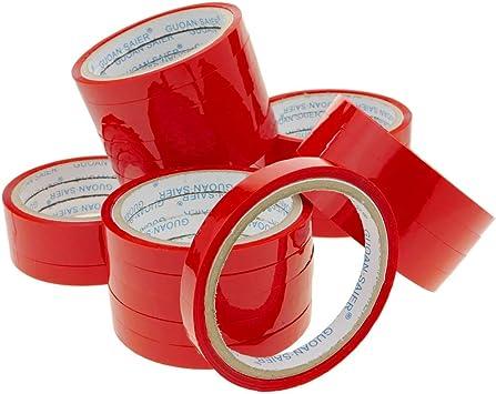 PrimeMatik - Cinta Adhesiva roja para precintadora Cierra Bolsas de plástico 24-Pack: Amazon.es: Electrónica