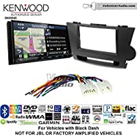 Volunteer Audio Kenwood Excelon DNX994S Double Din Radio Install Kit with GPS Navigation Apple CarPlay Android Auto Fits 2008-2013 Non Amplified Toyota Highlander (Black)