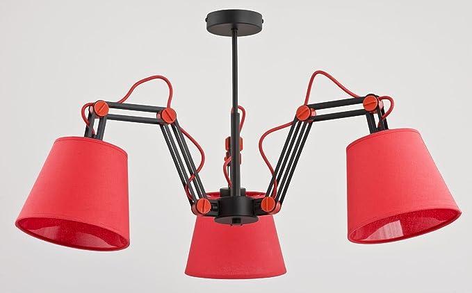 Ajustable de techo de color rojo negro 3 Tres Brazos Techos ...