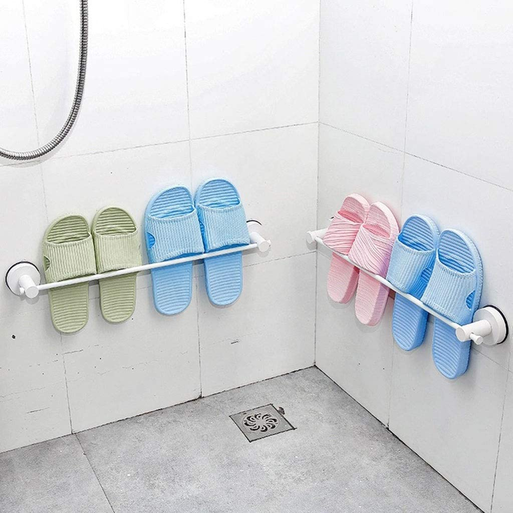 SCDXJ Wall-Mounted No Need to Punch Household Behind The Door Bathroom Slippers Rack