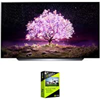 LG OLED77C1PUB 77 Inch 4K Smart OLED TV with AI ThinQ (2021 Model) Bundle with Premium 4 Year Extended Protection Plan