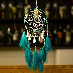DERCLIVE Dream Catcher Cloud Feather Fairy Hanging Home Decor with LED Light