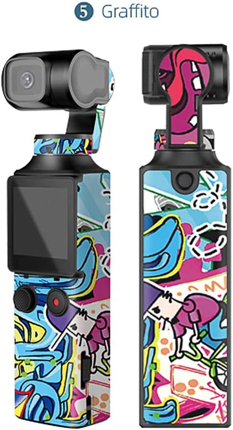 Colorful Hurricanes Waterprooof Stickers PVC Anti-Scratch Body Sticker Protective Decoration Handheld Gimbal Multi-Color Decals Full Cover Skin for FIMI Palm Accessories