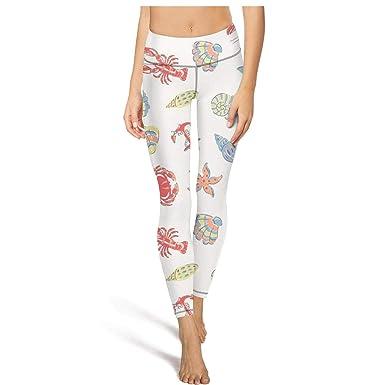 Amazon.com: Pantalones de yoga para mujer con langosta y ...