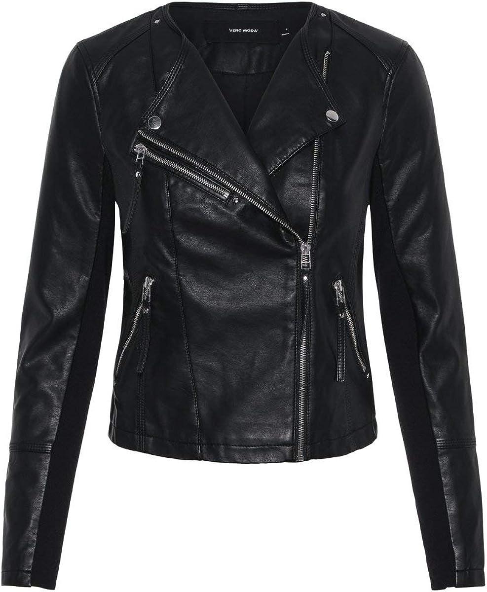 Vero Moda Vmria FAV Short Faux Leather Jacket Noos Chaqueta para Mujer