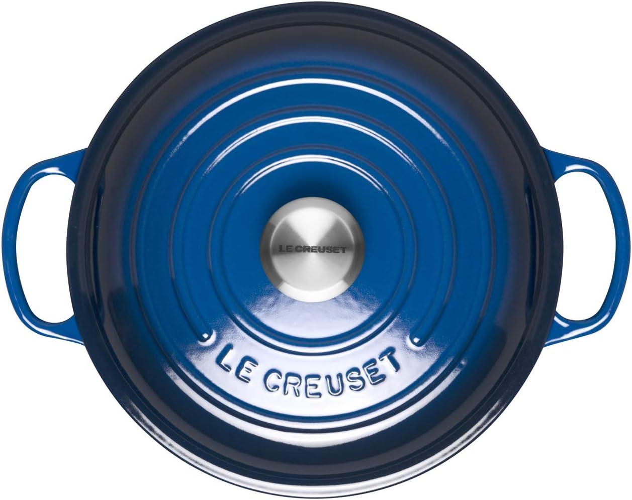 Include Induction LE CREUSET Signature Cast Iron ShAllow Casserole//Braiser Ideal for All Ovens and Ranges 2.2 Litre Lapis Diameter 26 cm Round