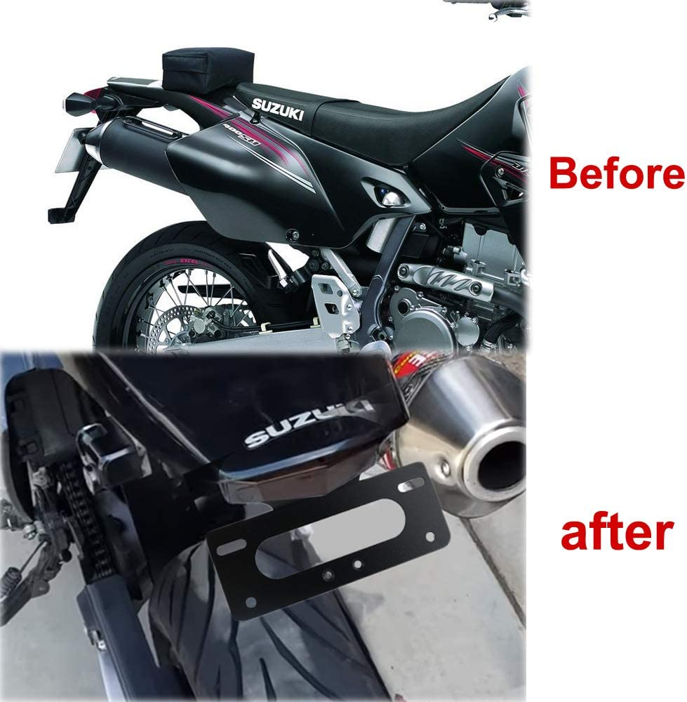 Xitomer DRZ400S// SM Tail Tidy Compatible with OEM and Aftermarket Turn Signal Fender Eliminator for SUZUKI DRZ400S 2000-2019 with LED Tail light//License Plate Light DRZ400SM DRZ400SM 2005-2019