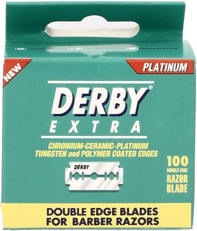 Derby Extra - Cuchillas de afeitar de doble filo de seguridad–Paquete de 100hojas