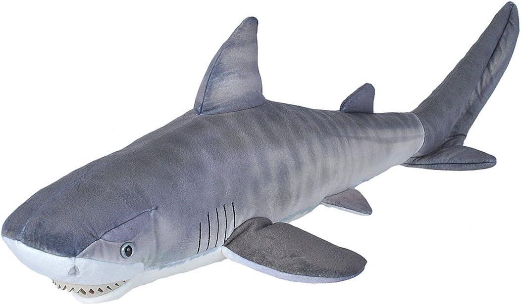 Wild Republic Tiger Shark Shark Plush, Stuffed Animal, Plush Toy, Gifts for Kids, Living Ocean 27 Inches