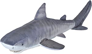Wild Republic Tiger Shark Shark Plush, Stuffed Animal, Plush Toy, Gifts for Kids, Living Ocean 27 Inches